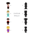 Halloween shadow matching game for kids vector image vector image