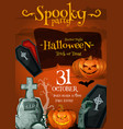 halloween spooky party night poster vector image