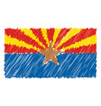 hand drawn national flag of arizona isolated on a vector image vector image