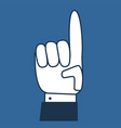hand with pointing finger vector image vector image