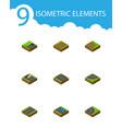 isometric way set of footpath underground vector image