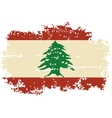 Lebanese grunge flag vector image vector image
