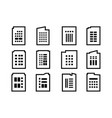 line company icons set on white background black vector image vector image