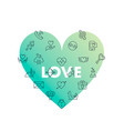 line icons in heart shape love vector image vector image