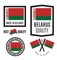 Made in Belarus label set vector image vector image