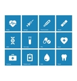 Medical icons on blue background vector image vector image