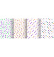 memphis seamless patterns available in swatches vector image vector image