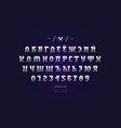 metal chrome cyrillic serif font in gothic style vector image vector image