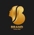 modern beauty salon letter b logo
