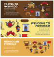 morocco travel symbols or tourism famous landmarks vector image