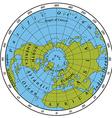 Northern Hemisphere vector image vector image