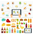 Online Products Order Internet Shopping vector image