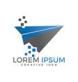 paper plane logo design vector image