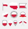 poland flag icons set national flag poland vector image vector image