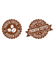 premium coffee stamp seals with grunge texture in vector image vector image