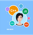 programmer woman character vector image