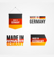 realistic detailed 3d made in germany sign set vector image vector image