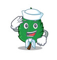 sailor mint leaves character cartoon vector image vector image