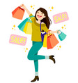 sales shopping vector image vector image