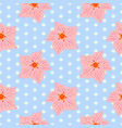 seamless floral pattern with pink mandevilla vector image vector image