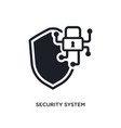 security system isolated icon simple element from vector image vector image