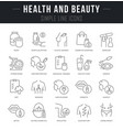 set linear icons health and beauty vector image vector image
