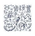 set with love symbols vector image