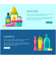 skincare cosmetics of high quality online promo vector image vector image