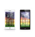 smart phone weather widgets vector image vector image