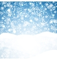 Snowflakes blue background Geometric natural vector image vector image