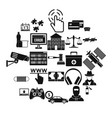 software developer icons set simple style vector image vector image