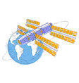 space station orbiting around earth spaceflight vector image vector image