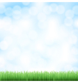 spring sky background vector image vector image
