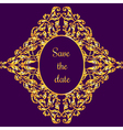 template with vintage gold luxury ornament and vector image vector image
