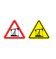 Warning sign of attention to pump oil Hazard vector image vector image