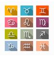 Zodiac Horoscope Symbols vector image