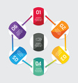 Modern infographics design options circle banner vector image