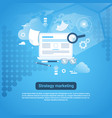 strategy marketing web banner with copy space on vector image