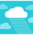 Cloud and rain consisting of numbers vector image