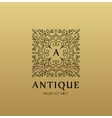 monogram luxury linear logo company icon vector image