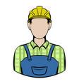 worker icon cartoon vector image