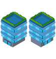 3d design for blue building vector image