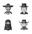 a mexican a jew a woman from the middle east an vector image vector image