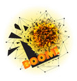 abstract explosion with sharp debris vector image vector image