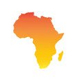 africa map colorful orange vector image