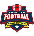 american football college team badge logo design vector image vector image