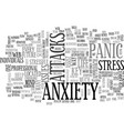 anxiety panic attack text word cloud concept vector image vector image