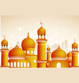 arabic mosque on shiny light background ramadan vector image
