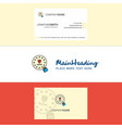beautiful gdpr logo and business card vertical vector image vector image