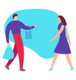 big sale and shopping concept the flat vector image